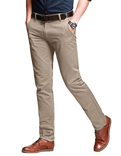 - Match Men's Fit Tapered Stretchy Casual Pants (32W x 31L, 8106 Apricot)