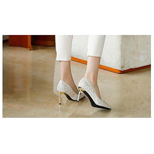 De CN40 Escarpin Saison Talons Haute Cristal MUMA EU39 UK6 Sexy taille 10cm Printemps Mariée 6cm Chaussures Or De 2018 5 Couleur Mariage Chaussures Pointu q6YdwwBA
