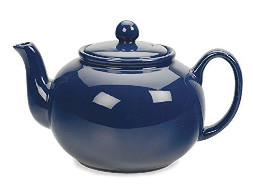 RSVP Stoneware Chai Teapot, 48 oz, Blue