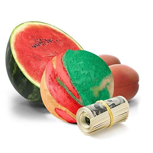 Cash Money Bath Bombs | Jumbo Size 7.5oz | $2-$2500 Inside | Guaranteed Rare $2 Bill | Large Mystery Surprise Gift | (Pink Watermelon And Apricots)