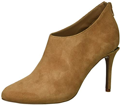 kensie Women's Roland Ankle Boot, Nude Suede, 7 M US