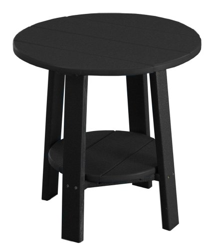 (Furniture Barn USA Outdoor Deluxe End Table - Black Poly Lumber - Recycled Plastic)