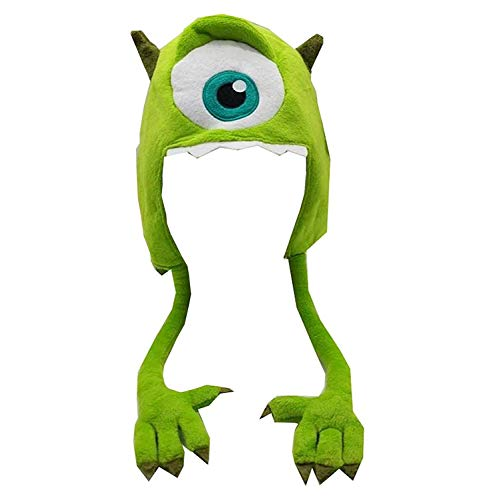 Disney Monsters University Mike Wazowski Plush Hat With Arms Adult Youth]()