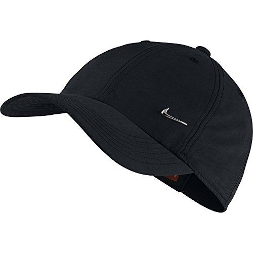 Nike Kinder Cap METAL SWOOSH, schwarz/silber, One Size, 405043