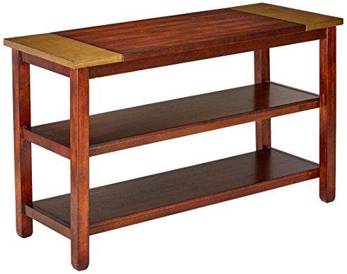 Progressive Furniture T274-05 Sydney Sofa/Console Table, 50x20x30, Dark Ash/Copper Metal