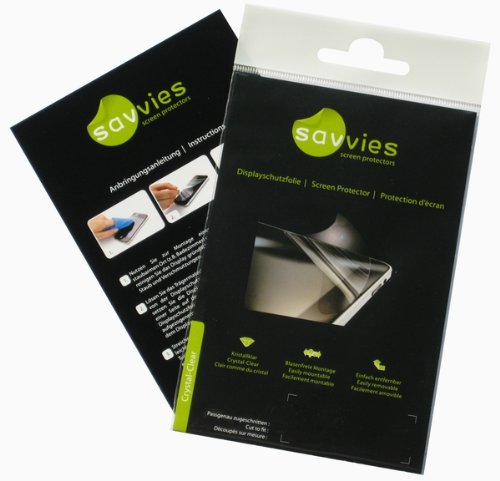 Savvies Crystalclear Screen Protector for Archos 35 internet tablet, Protective Film, 100% fits, Display Protection Film