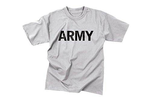 Military Moisture Wicking T-shirt - Rothco Moisture Wicking P/T T-Shirt/Grey-Army, Large