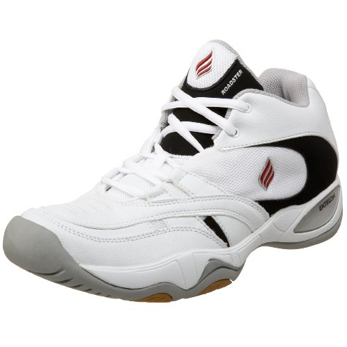 Ektelon T-9 Roadster Mid Indoor Court Shoe,White/Black,10.5 M Men's/12 M Women's