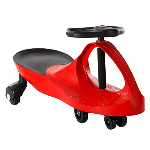 - Ride On Car, No Batteries, Gears or Pedals, Uses Twist, Turn, Wiggle Movement to Steer Zigzag Car-Red, for Toddlers, Kids, 2 Years Old and Up