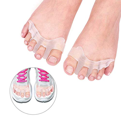 Gel Toe Separators Silicone Toe Spacers, Hammer Toe Straightener Spreaders, Overlapping Toe Corrector Toe Alignment for Bunion Pain Relief for Women Men Night and Day Use