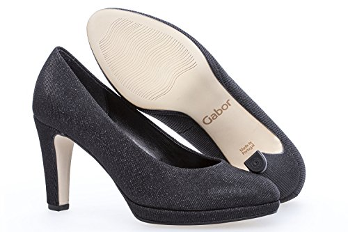 Gabor Women's Splendid Court Shoes Black Metallic (67) wjXqiN