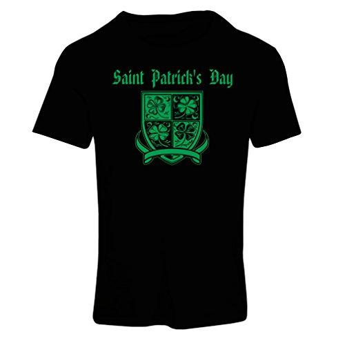 t-shirts-for-women-saint-patricks-day-shamrock-symbol-irish-party-time-x-large-black-multi-color