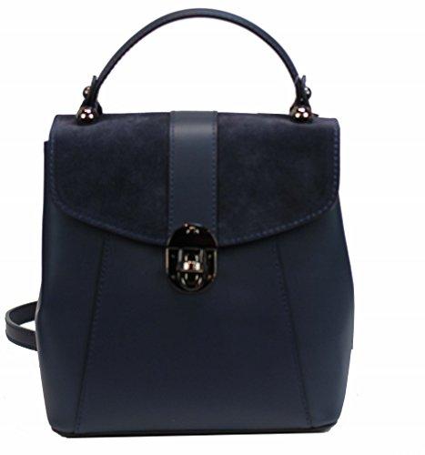 Bozana Bag Bo blau Backpacker Designer Rucksack Ledertasche Damenhandtasche Schultertasche Leder Nappa sheep ItalyNeu