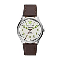 Deals on Forrester Three-Hand Brown Leather Watch