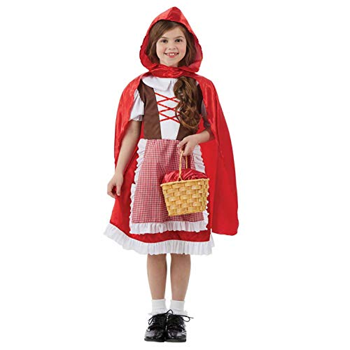fun shack FNK4313XL-US Girls Little Red Riding Hood Costume Childrens Fairytale Outfit - X-Large