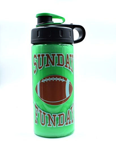 Sunday Funday Football Water Bottle 16 oz BPA Free By Cool Gear