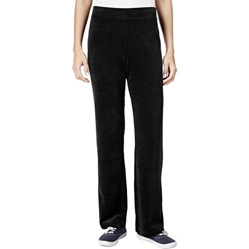 Womens Velour Lounge Pant - Karen Scott Womens Velour Pull On Lounge Pants Black XS