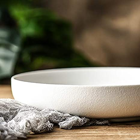 wshuhouui Piatto in Ceramica Scrub Piatto per zuppa di