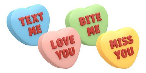 SpinningLeaf Candy Hearts Sandwich Cookie Mold (Conversation Soaps Heart)