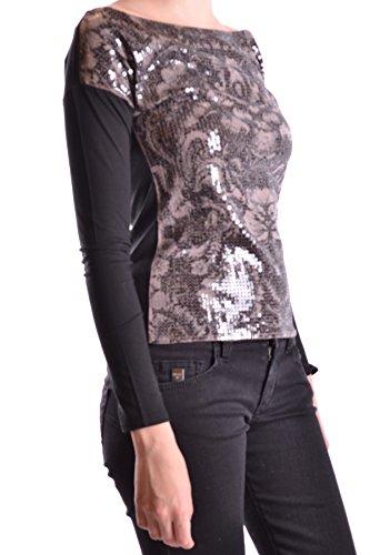 Liu Jo Mujer MCBI191331O Negro Algodon Top
