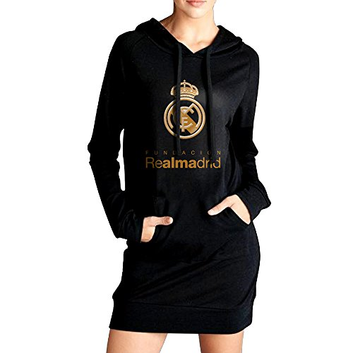 fan products of Women Real-Madrid-Logo Long Hoodie Sweatshirt