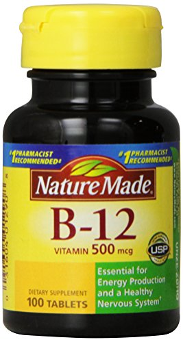 Природа Сделано Витамин B-12 500 мкг, таблетки, 100 Граф