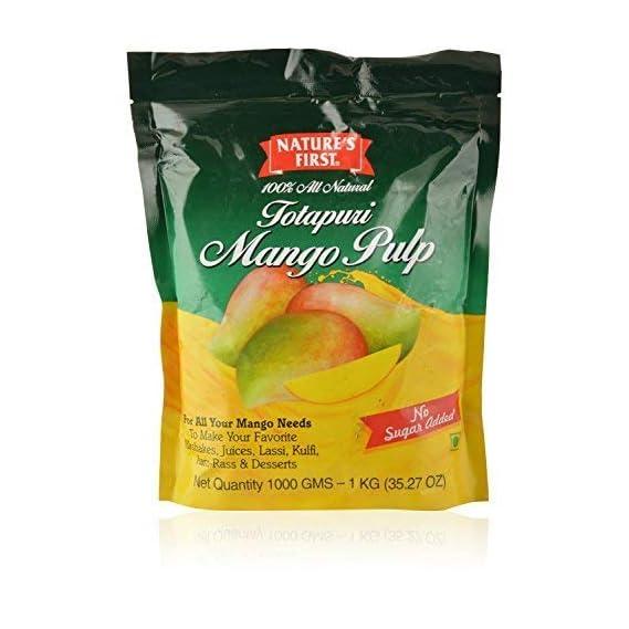 Nature's First Totapuri Mango Pulp, 1 kg
