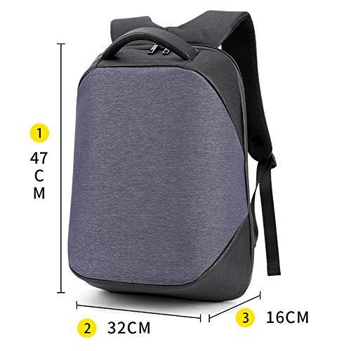N blueee simple Backpack Male Waterproof Stereo Digital Storage Computer Backpack,Travel Anti Theft Slim Computer Backpacks With USB Charging Port,Water Resistant Large College School Bags For Men Women Fits Laptop U