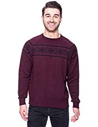 """<span class=""""a-offscreen"""">[Sponsored]</span>Tocco Reale Gift Packaged Men's 100% Cotton Crew Neck Sweater with Fair Isle Stripe"""