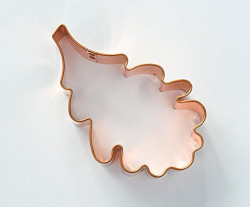 ecrandal Oak Leaf copper cookie cutter (Cutter Leaf Cookie Copper)