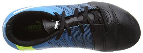Puma Evopower 4.3 Firm Ground Junior - Zapatillas de fútbol Unisex para niños Negro (BLACK/WHITE/BLUE)