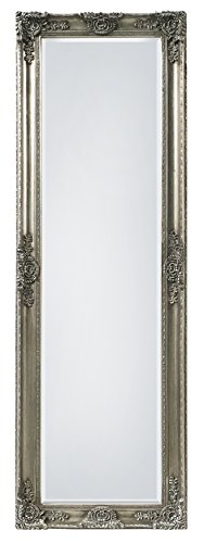 "SBC Decor Mayfair Belle Full Length Mirror, 19"" x 60"" x 2"", Antique Silver"