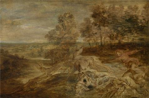 Oil Painting 'Peter Paul Rubens,The Hunt,1577-1640', 18 x 27 inch / 46 x 70 cm , on High Definition HD canvas prints is for Gifts And Bar, Powder Room And Study Room Decoration, personal