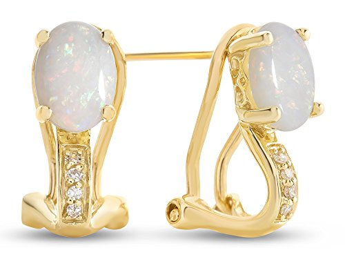 LALI Classics 14k Yellow Gold Oval Earrings