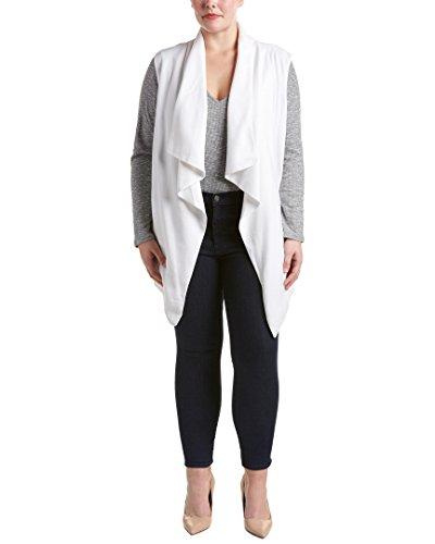無駄だ統合女王NYDJ Plus SizeレディースPlus Size Sleeveless Cascade Jacket