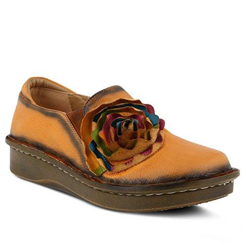Slip De Cuero Emilia Camel De Spring Step Para Mujer En Los Zapatos