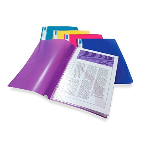 Rapesco A4 Project Presentation Display Book 20 Pockets - Assorted Bright Colours - Pack of ()