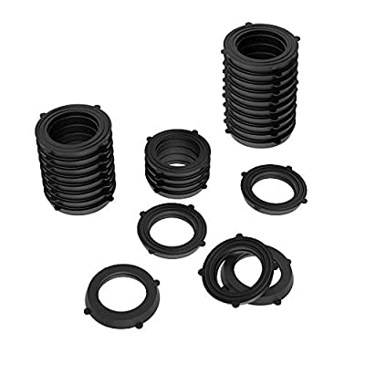 30 Pack Garden Hose Washers Rubber Washers Seals for Garden Shower Hose and Water Faucet