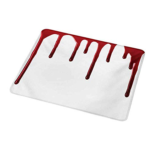 (Gaming Mouse Pad Customized Horror,Flowing Blood Horror Spooky Halloween Zombie Crime Scary Help me Themed Illustration,Red White,Custom Design Gaming Mouse Pad 9.8