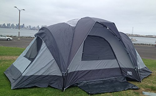 World-Famous-Sports-9-Person-C&ing-Tent-with- & World Famous Sports 9-Person Camping Tent with Side Rooms ...