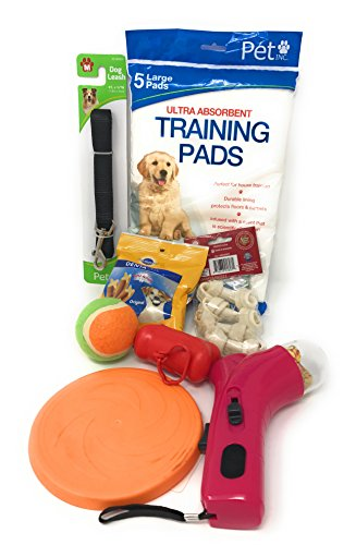 Dog Toy Gift Box Variety Pet Puppy Toy,Training Pad, Dog Leash, Waste Bag Dispense and Snack Set for Medium to Small Dogs. NEW Puppy #2
