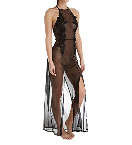 Bluebella Coraline Long Sheer Gown, L, Black