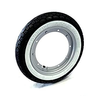 Kit Rueda completa con Neumático Banda Blanca y filtro de aire Tamaño 3.00 x 10