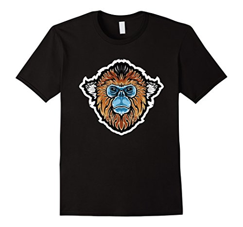 ed Monkey China Wildlife Animal T Shirt Medium Black ()
