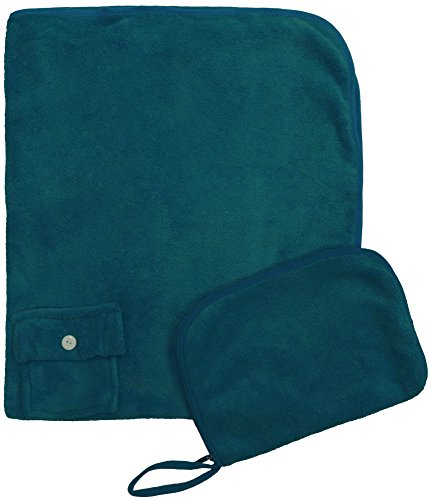 Simplicity Foldable Travel Sleep Nap Pillow Blanket Set for Air Car Train, Green (Target Outdoor Blanket)