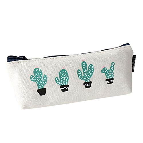 TOTOD Bags Clearance, Students Cute Plants Stationery Pencil Pen Case Cosmetic Makeup Bag Zipper Pouch Cases -