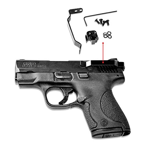 Clipdraw Ambidextrous Concealed Gun Belt Clip for Smith and Wesson M and P Shield 9MM 40 and 45 Caliber Black (45 Caliber)