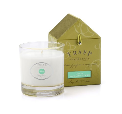 Trapp Signature Home Collection No. 64 White Lotus & Lychee Poured Scented Candle, 7-Ounce