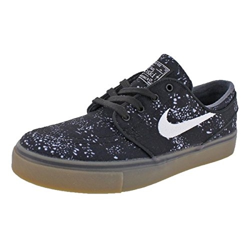 info for 09b2f 3d743 NIKE Mens SB Stefan Janoski Canvas PRM Skateboarding Shoes Black 4 Medium  (D)