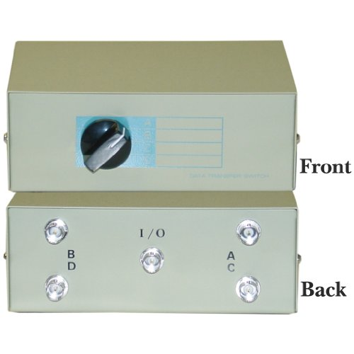 CableWholesale ABCD 4 Way Switch Box, BNC Female